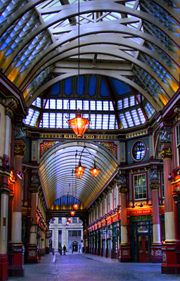 View through Leadenhall Market